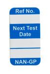 Brady Nanotag Blue Vinyl Nano Tag Insert - 5/8 in Width - 1 1/4 in Height - NAN-GP B