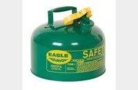Eagle Green 24-gauge hot dipped galvanized steel 2.5 gal Safety Can - 10 in Height - 11.25 in Overall Diameter - 048441-00466