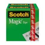 3M Scotch 810-2PK-TB Magic Clear Office Tape - 3/4 in Width x 1000 in Length - 98198