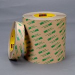 3M 468MP Clear Transfer Tape - 48 in Width x 60 yd Length - 5 mil Thick - Polycoated Kraft Paper Liner - 25628