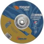 Weiler TIGER Standard (Type 27) Zirconium Combo Wheel - 30 Grit - 9 in Diameter - 1/8 in Thick - 57106