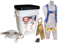 Protecta Compliance in a Can Roofer's Fall Protection Kit - Polyester Webbing - 50 ft Length - 648250-16031