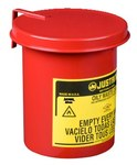 Justrite Soundgard Red Steel 0.45 gal Safety Can - 6 1/2 in Height - 4 5/8 in Overall Diameter - 697841-13072