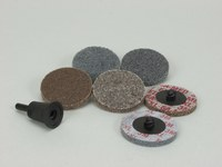3M Scotch-Brite 987S Unitized Deburring Disc & Wheel Set - Coarse, Medium Grade(s) Included - Quick Change Attachment - 2 in Diameter Included - 17181