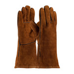 PIP 73-7088 Brown Large Split Cowhide Leather Welding Glove - Wing Thumb - 13.5 in Length - 616314-10460