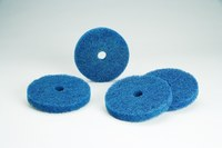 Standard Abrasives Buff and Blend 860710 HS-F A/O Aluminum Oxide AO Deburring Disc - Medium Grade - 6 in Diameter - 1/2 in Center Hole - 32520