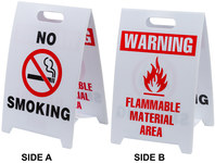 Brady B-836 Polypropylene Rectangle White Floor Stand Sign - 12 in Width x 20 in Height - 92282