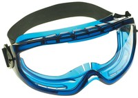 Jackson Safety Monogoggle V80 Polycarbonate Over The Glass (OTG) Safety Goggle Clear Lens - Blue Frame - Indirect Vent - Flexible Frame - 036000-18624