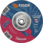 Weiler TIGER Standard (Type 27) Aluminum Oxide Cut & Grind Wheel - 30 Grit - 7 in Diameter - 1/8 in Thick - 57104