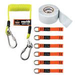 Ergodyne Squids 3180 Orange/Lime Woven Elastic Tool Tethering Kit - 720476-19650