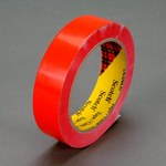 3M Scotch 690 Red Color Coding Bag/Packaging Tape - 9 mm Width x 66 m Length - 2.3 mil Thick - 61647