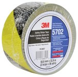3M 5702 Black / Yellow Marking Tape - Pattern/Text = Striped - 2 in Width x 36 yd Length - 5.4 mil Thick - 68827