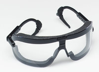 3M Fectoggles 16408-00000-10 Medium Polycarbonate Standard Safety Goggle Clear Lens - Black Frame - Non-Vented - 078371-62322