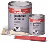 Loctite Nordbak 87333 Gray Ceramic Epoxy - Liquid 6 lb Kit - Two-Part Base & Accelerator (B/A) 2.75:1 Mix Ratio - 98732