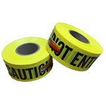 3M Scotch 300 Yellow Warning Tape - Pattern/Text = CAUTION DO NOT ENTER - 3 in Width x 1000 ft Length - 3 mil Thick - 58374