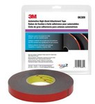 3M 06389 Black Attachment Automotive Tape - 7/8 in Width x 20 yd Length - 45 mil Thick
