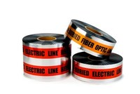 3M Scotch 410 Orange Warning Tape - Pattern/Text = CAUTION BURIED TELEPHONE LINE BELOW - 3 in Width x 1000 ft Length - 5 mil Thick - 57880
