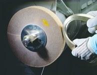 3M Scotch-Brite CP-FB Non-Woven Aluminum Oxide Flap Wheel - Medium Grade - 6 in Face Width - 8 in Diameter - 4 in Center Hole - 16459