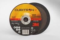 3M Cubitron II Standard (Type 27) Ceramic Aluminum Oxide Depressed-Center Wheel - 36 Grit - Very Coarse Grade - 6 in Diameter - 7/8 in Center Hole - 1/4 in Thick - 66589