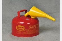 Eagle Red 24-gauge hot dipped galvanized steel 2.5 gal Safety Can - 10 in Height - 11.25 in Overall Diameter - 048441-00448