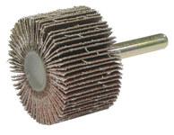 Weiler Coated Aluminum Oxide Flap Wheel - 1 in Face Width - 1 1/2 in Diameter - 52009