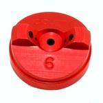 3M 91-071-6 Aluminum Standard Air Cap - Size 6 - 90161