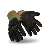 HexArmor 2094 Black/Green 11 Kevlar/Wool Heat-Resistant Glove - 2094 SZ 11