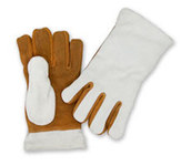 Chicago Protective Apparel Leather Heat-Resistant Glove - 11 in Length - 211-GL