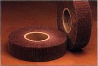 3M Scotch-Brite CF-FB Non-Woven Aluminum Oxide Flap Wheel - Medium Grade - 2 in Face Width - 6 in Diameter - 2 in Center Hole - Density Grade: Hard - 16478