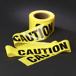 3M Scotch 300 Yellow Warning Tape - Pattern/Text = CAUTION - 3 in Width x 1000 ft Length - 2 mil Thick - 53042