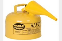 Eagle Yellow 24-gauge hot dipped galvanized steel 2.5 gal Safety Can - 10 in Height - 11.25 in Overall Diameter - 048441-00458