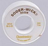 Chemtronics Soder-Wick #50 Yellow Rosin Flux Core Desoldering Wick or Braid 50-2-25 - 25 ft Length - 0.06 in Diameter