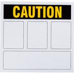 Brady Prinzing Vinyl Rectangle White Preprinted Header - TEXT: CAUTION - 44137