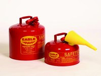 Eagle Red Galvanized Steel 2 gal Safety Can - 9 1/2 in Height - 11 1/4 in Overall Diameter - 048441-22141
