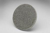 3M Scotch-Brite XL-US Unitized Aluminum Oxide Soft Deburring Wheel - Medium Grade - Quick Change Attachment - 2 in Diameter - 17844