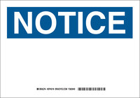 Brady Prinzing B-401 Plastic Rectangle White Preprinted Header - 14 in Width x 10 in Height - TEXT: NOTICE - SP401N