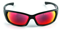 3M Safety Sunwear SS1629AS-B Polycarbonate Standard Safety Glasses Red Mirror Lens - Black Frame - Full Frame - 078371-65897