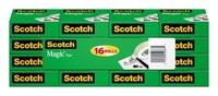 3M Scotch 810K16 Magic Clear Office Tape - 3/4 in Width x 1000 in Length - 52667