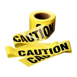3M Scotch 300 Yellow Warning Tape - Pattern/Text = CAUTION - 3 in Width x 300 ft Length - 2 mil Thick - 53460
