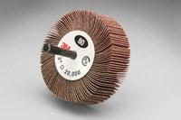 3M 244D Coated Aluminum Oxide Flap Wheel - X Weight - 1/2 in Face Width - 3 in Diameter - 20288
