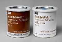 3M Scotch-Weld 3532 Two-Part Base & Accelerator (B/A) Off-White Urethane Adhesive - Paste 1 qt Kit - 20879