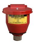 Justrite Red Steel Funnel - 4.5 in Width - 4.5 in Height - 697841-00116