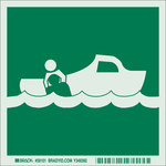 Brady Bradyglo B-347 Polyester / Polystyrene Square IMO Obligation Sign - 6 in Width x 6 in Height - Glow in the Dark - 59101