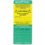 Brady Scafftag Green on Yellow Scaffold Tag Insert - SCAF-STSI 310 STD