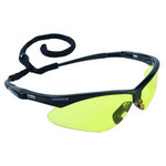 Jackson Safety Nemesis V30 Polycarbonate Standard Safety Glasses Yellow Lens - Black Frame - Wrap Around Frame - 711382-01797