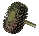 Weiler Coated Aluminum Oxide Flap Wheel - 1/2 in Face Width - 2 in Diameter - 52366