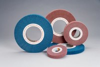 Standard Abrasives Buff and Blend 875308 A/O Aluminum Oxide AO Flap Brush - 1 in Face Width - 12 in Diameter - 5 in Center Hole - 42873