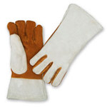 Chicago Protective Apparel Leather Heat-Resistant Glove - 13 in Length - 213-DW