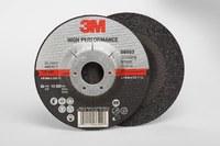 3M Standard (Type 27) Ceramic Depressed-Center Wheel - 36 Grit - Very Coarse Grade - 4 1/2 in Diameter - 1/4 in Thick - 66553