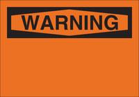 Brady B-555 Aluminum Orange Preprinted Header - 10 in Width x 7 in Height - 42949